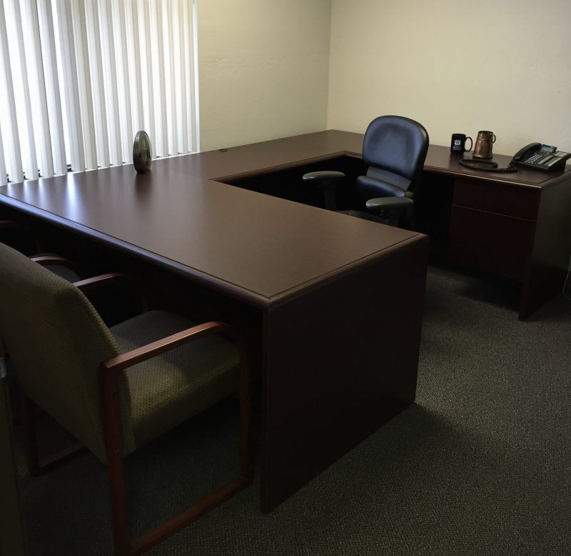 Kimball U Shaped Executive Desk